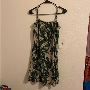 H&M palm patterned sundress